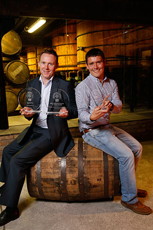 Teeling Whiskey Company with 3 Awards: Irish Poitín of the Year, Best Irish Single Malt Whiskey 13 Years and Over and Irish Single Grain Whiskey of the Year