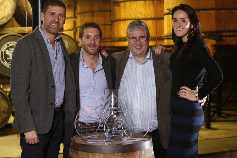 The Guys from Irish Distillers Pernod Ricard with their five Awards
